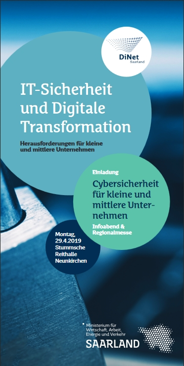 """Einladungsflyer """"Cybersicherheit für kleine und mittlere Unternehmen"""""""